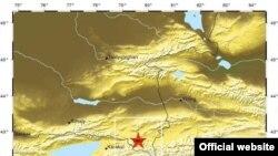 Место расположения эпицентра землетрясения