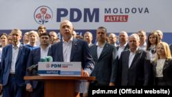 Echipa Partidului Democrat lansându-se în campanie electorală