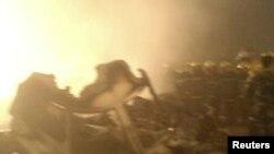 تصویری از بقایای هواپیمای مسافربری چین پس از خاموش کردن آتش