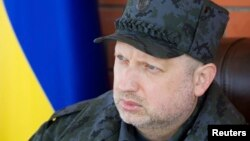 Ushtruesi i detyrës së presidentit të Ukrainës, Oleksandr Turchynov