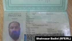 The Pakistani passport Mullah Akhtar Mansur carried and used to travel to Iran.