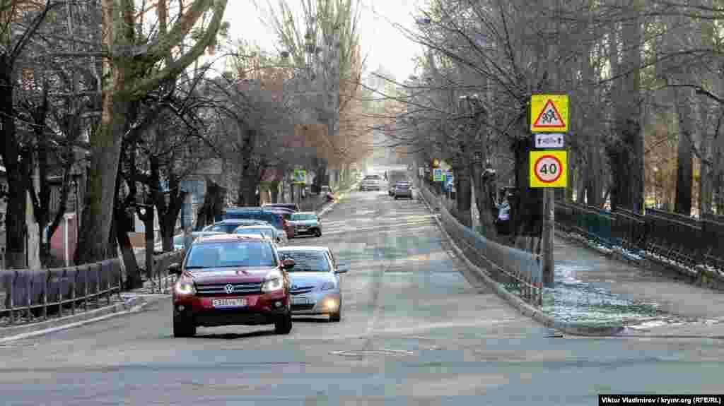 На пересечении с улицей Киевской