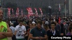 Протестующие в Стамбуле. 2 июня 2013 года.