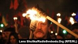 На смолоскипній ході до дня народження Степана Бандери у Києві (фото архівне)