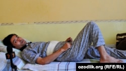 Kyrgyzstan - Ibrohim Yoldoshev who got leg injury during June events