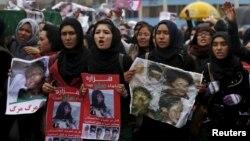 На месте протеста в Кабуле против убийства хазарейцев. Кабул, 11 ноября 2015 года.