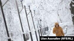 Зима в Бишкеке.