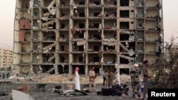 The Khobar Towers military housing complex in Saudi Arabia hit by a bombing in 1996. (file photo)