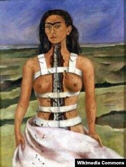 Фрида Кало. «Жаракалуу колонна». 1944-жыл.