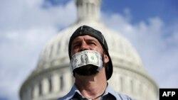 """Некоторые граждане США публично выступают против бюджетных """"войн"""" во власти"""