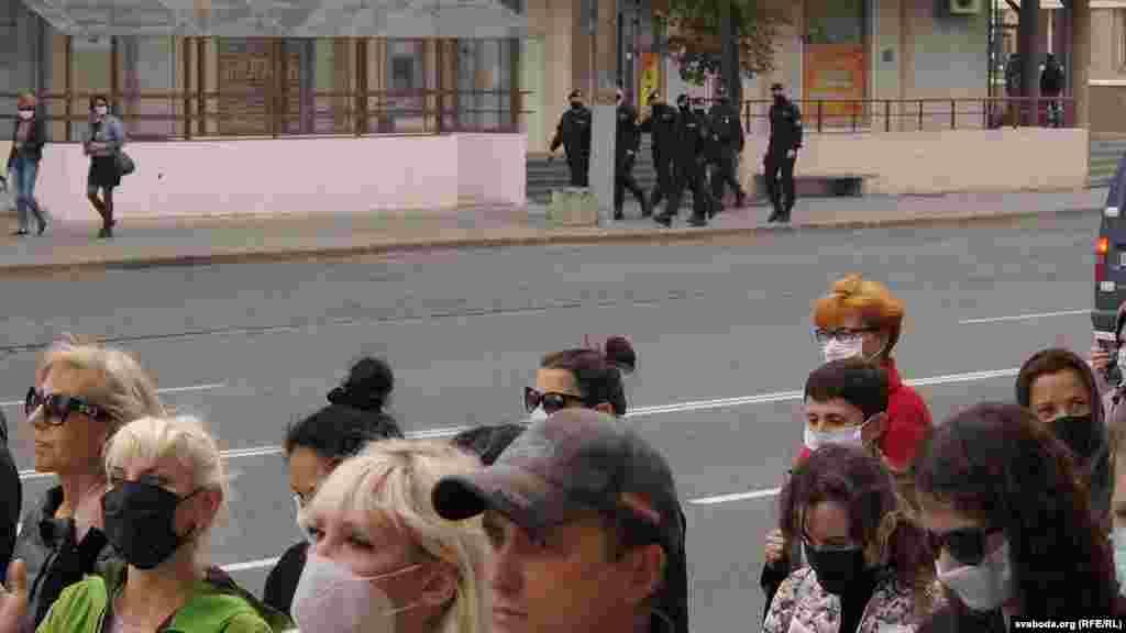 Акцію протесту в Могильові також розігнали силовики