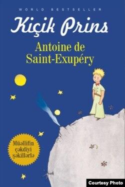 """Antoine de Saint-Exupery-nin """"Balaca şahzadə"""" kitabı azərbaycanca."""