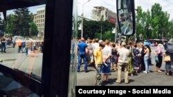 Антивоенный митинг в Донецке