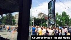 Антивоенный митинг в Донецке.