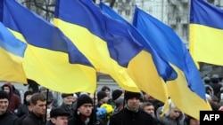 Проукраинский митинг в Донецке. Март 2014 года