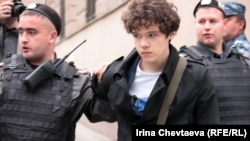 Задержания активиста у здания Московского уголовного розыска, 28 мая 2012 года