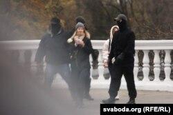 7- noyabrdagi ayollar namoyishi payti. Minsk