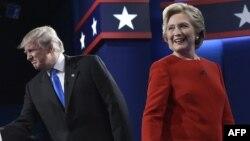 Дональд Трамп пен Хиллари Клинтон дебат өтетін Хофстра университетінде. АҚШ, 26 қыркүйек 2016 жыл.
