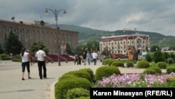 Нагорный Карабах - Одна из площадей в Степанакерте