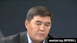 "Kamchybek Tashiev, the leader of Kyrgyystan's ""Ata Jurt"" party"