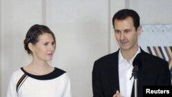 Президент Сирии Башар Асад со своей женой Асмой Асад.