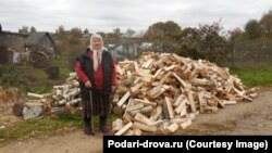 A charity drive to collect donations for firewood for poorer households has set the Russian Internet alight.