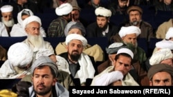 Afghan Islamic scholars in a gathering.