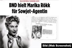 """Dezvăluirile din """"Bild"""" despre Marika Rökk"""