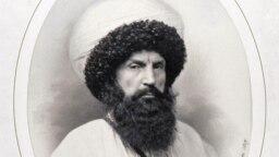 Фрагмент портрета Имама Шамиля, Генрих Деньер, 1859