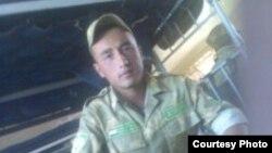 Tajikistan -- Sughd region, Zuhurjon Yuldoshev, a border soldier from Asht district,11 September 2014
