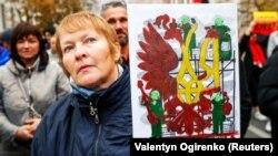 Під час акції «Зупинимо капітуляцію!». Київ, 6 жовтня 2019 року
