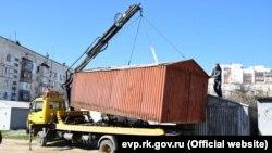 Демонтаж гаражей в Евпатории, 28 марта 2017 год