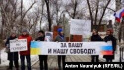 Акция памяти Бориса Немцова в Саратове, 27 февраля 2016 года