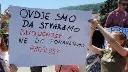 Sa jednog od protesta srednjoškolaca zbog podjela