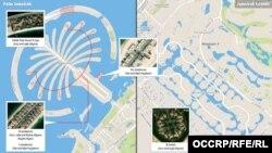 Отели и особняки Алиевых и Гейдаровых в Дубае. Инфографика OCCRP