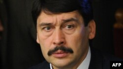Hungarian President Janos Ader (file photo)