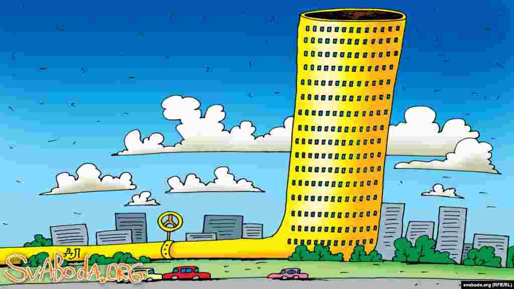 Зацьверджаны праект Газпрамаўскага хмарачоса на месцы былога аўтавакзалу ў Менску.