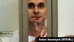 Олег Сенцов во время последнего слова в суде Ростова-на-Дону. Август 2015 года.