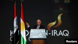 وزير الثروات الطبيعية في حكومة إقليم كردستان يتحدث في مؤتمر عن نفط الإقليم