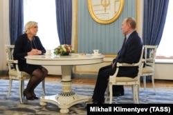Marine Le Pen və Vladimir Putin. Moskva, 24 march, 2017