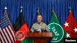 Командующий Международными силами содействия безопасности в Афганистане генерал Джозеф Данфорд. Кабул, 28 мая 2014 года.