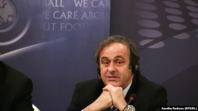French soccer legend and UEFA President Michel Platini