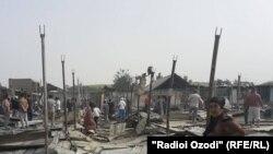 После пожара на центральном рынке Фархора