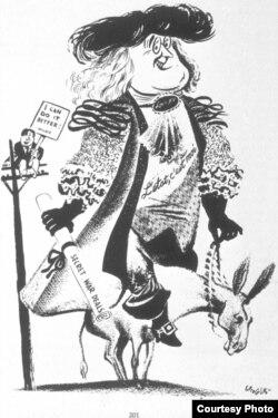На карикатуре Уильяма Гроппера Франклин Рузвельт, избиравшийся в 1940 году на третий срок, изображен в образе Людовика XIV, правившего 72 года и изрекшего известную фразу «Государство – это я». За его спиной на телеграфном столбе сидит Уэнделл Уилки с плакатом, на котором написано: «Я могу делать это лучше».