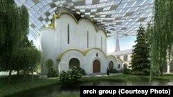 Proiectul fațadei nordice a Catedralei și Centrului Spiritual rus de la Paris