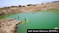تجمّع للمياه الآسنة في مدينة النعمانية