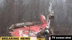 Pamje nga aeroplani i rrëzuar, 10 prill, 2010