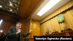 Михаил Саакашвили выступает в суде.