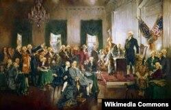 Говард Чендлер Кристи. Подписание Конституции Соединенных Штатов. 1940
