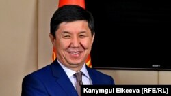 Kyrgyzstan -- Prime Minister of Kyrgyzstan Temir Sariev and Byelorussia PM Andrei Kobyakov, 28 May 2015